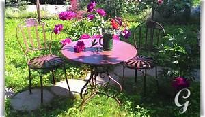 Gartenstühle Und Tisch : nostalgisches gartenm belset acier ~ Markanthonyermac.com Haus und Dekorationen