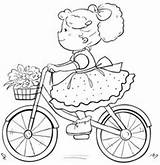 Coloring Pages Brianna Cycle Bike Cute Adult Embroidery Patterns Digital Books Pony Da Colouring Sheets Drawing Hand Colorare Ride Per sketch template