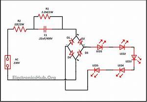 Mains Operated Led Lights Circuit