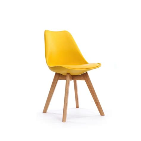 chaise jaune moutarde chaise design scandinave loumi jaune