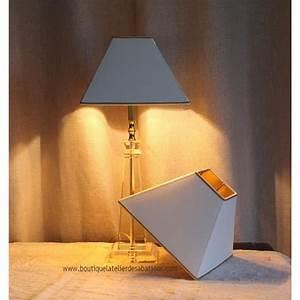 Abat Jour Lampe : lampe cristal et abat jour dor l 39 atelier des abat jour ~ Teatrodelosmanantiales.com Idées de Décoration