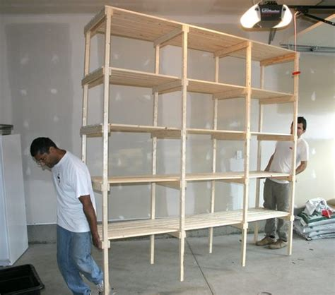 how to build shelves in my garage building storage shelves