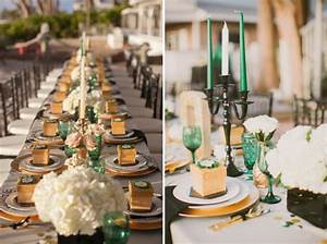 Emerald Green & Gold Engagement! - B Lovely Events