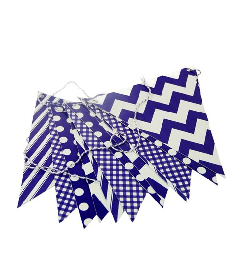 deep purple patterned pennant banner  ft