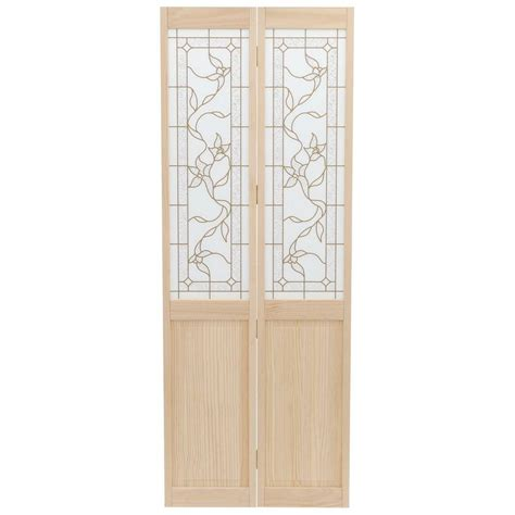 doors interior home depot pinecroft 30 in x 80 in glass panel tuscany wood