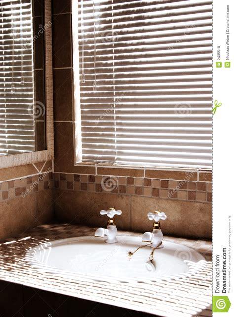 modern bathroom  blinds royalty  stock