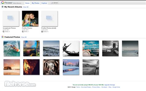 picasa web albums store   find  contacts