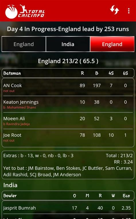 cricket scores updates total cricinfo  android
