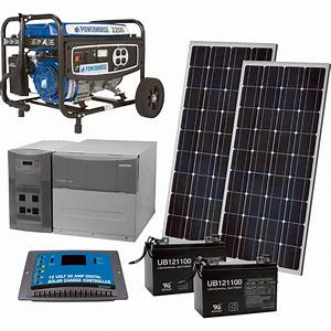 Npower U2122 Complete Solar Power Package With Backup Generator