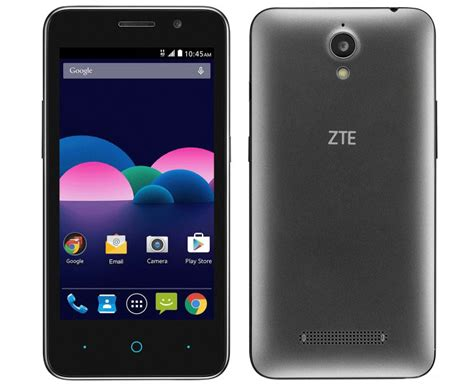 at t zte phone t mobile launches the zte obsidian 4 5 inch device with