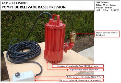 pompe de relevage cuisine pompe de relevage basse pression