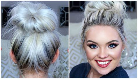 Hairstyle Messy Bun Step By Step Persoalan v