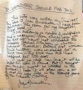 daughter sees time capsule hidden by her late father in With baby time capsule letter