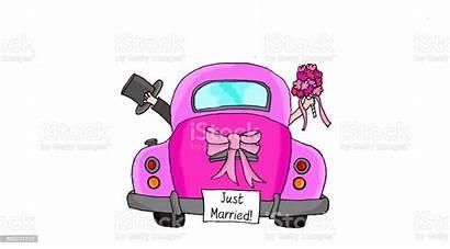 Married Couple Pink Clip Illustration Illustrations Bride