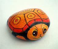 Orange Painted Rock Turtle