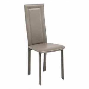 Chaise Salle A Manger Cuir : chaise contemporaine en cro te de cuir cl105 4 ~ Teatrodelosmanantiales.com Idées de Décoration