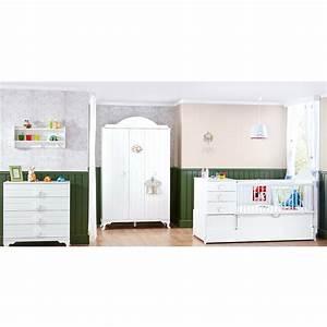 Babyzimmer Komplett Set Weiß : babyzimmer komplett set kleiderschrank kommode 2in1babybett little king wei baby m bel ~ Bigdaddyawards.com Haus und Dekorationen
