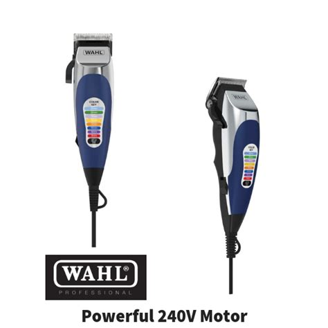 wahl colour pro electric hair clippers pcs home haircut kit groomer
