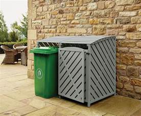 wheelie bin store outdoor cover recycling storage