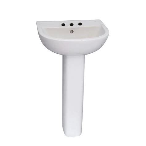 barclay products compact 550 pedestal combo bathroom sink