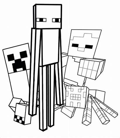 Minecraft Coloring Pages Creeper Face Printable Getcolorings