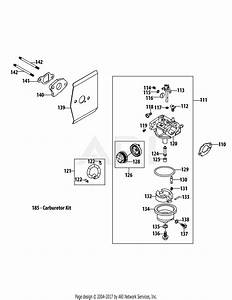 Mtd 1p65b0c Engine Parts Diagram For 1p65b0c Carburetor