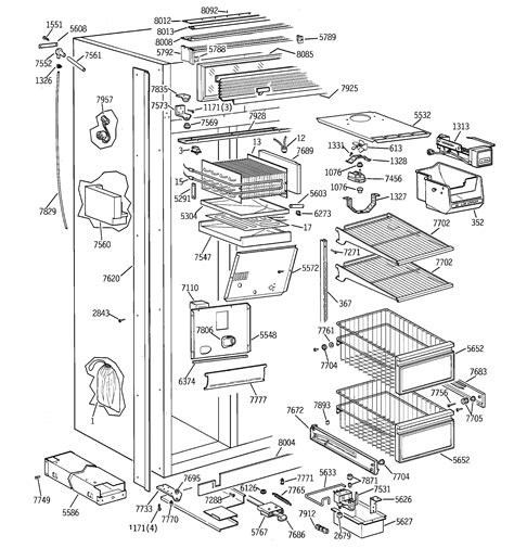 ge zisnsb side  side refrigerator parts sears partsdirect