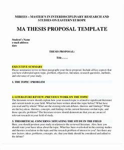 Dissertation Proposal Template Word Camisonline Net
