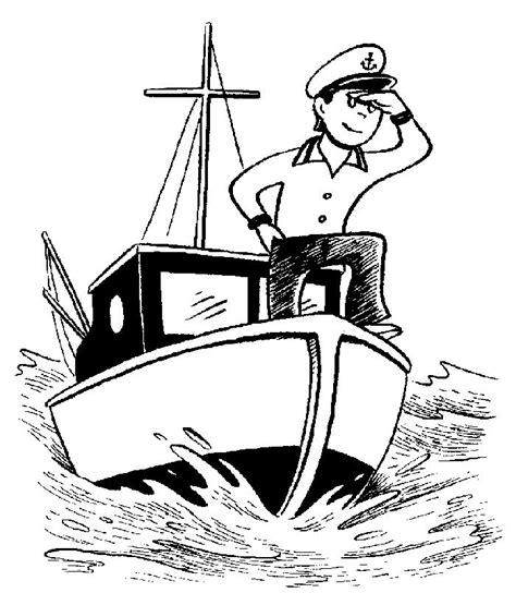 imprime le dessin  colorier de bateau