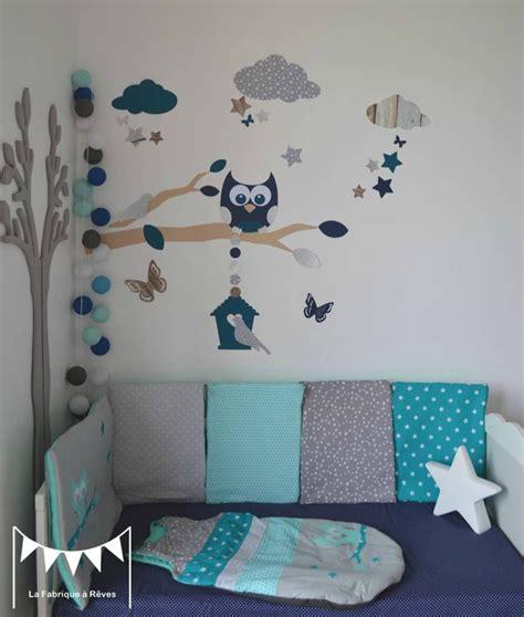 chambre bébé turquoise et gris décoration et linge de lit bébé turquoise gris et pétrole