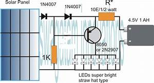 Simplest Automatic Led Solar Light Circuit