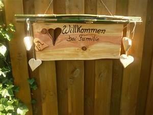 Türschild Familie Holz : 25 herzlich willkommen schild ~ Lizthompson.info Haus und Dekorationen