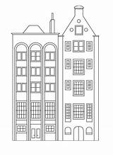 Coloring Buildings Pages Apartment Apartments Houses Building Tall Simple Printable Stylish Row Drawing Print Easy Adult Visit Printcolorfun sketch template