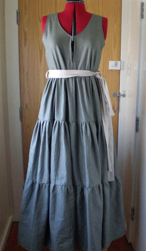 tiered linen maxi dress sewing projects burdastylecom