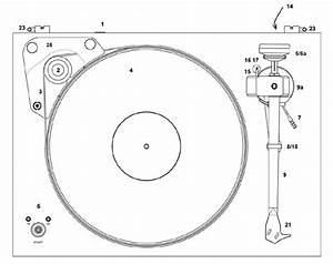 Explanatory Diagram Of A Vinyl Turntable