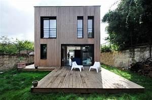 Maison Préfabriquée En Bois : maison individuelle bbc ossature bois pr fabriqu e ~ Premium-room.com Idées de Décoration