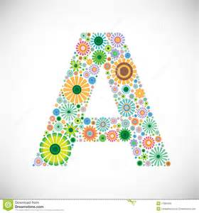 set of floral alphabet letter a royalty free stock images image 17983499