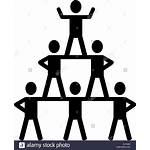 Pyramid Cheerleading Icon Silhouette Cheerleader Symbol Pyramide