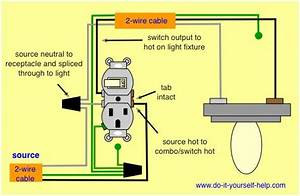 Combination Switch Receptacle Wiring Diagram