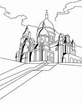 Coloring Basilica Paris Pages Middle Ages Sacred Heart Cathedral Getcolorings Getdrawings Drawing Printable Colorings sketch template