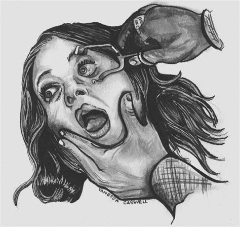 horror  spooky drawings images  pinterest