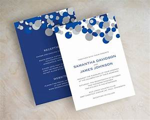 blue and silver polka dot wedding invitations sapphire blue With royal blue and grey wedding invitations