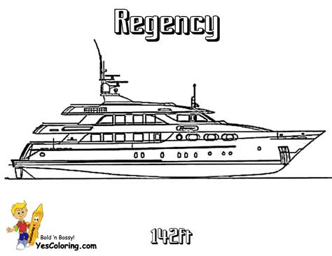 super yacht ship coloring pages motor boats  yachts