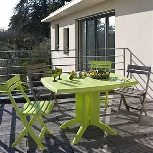 Salon De Jardin Bistrot : salon de jardin table vega blanche 4 chaises miami bistrot blanc oogarden belgique ~ Teatrodelosmanantiales.com Idées de Décoration