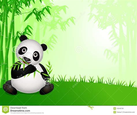 cute panda cartoon   nature stock illustration