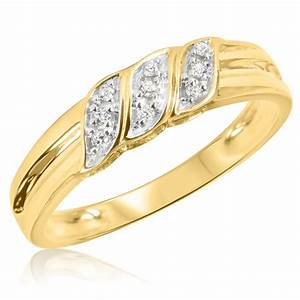 1 10 carat tw diamond men39s wedding ring 14k yellow gold With mens yellow gold wedding rings