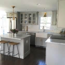 small tile backsplash in kitchen small gray kitchen with mini subway tiles that go halfway