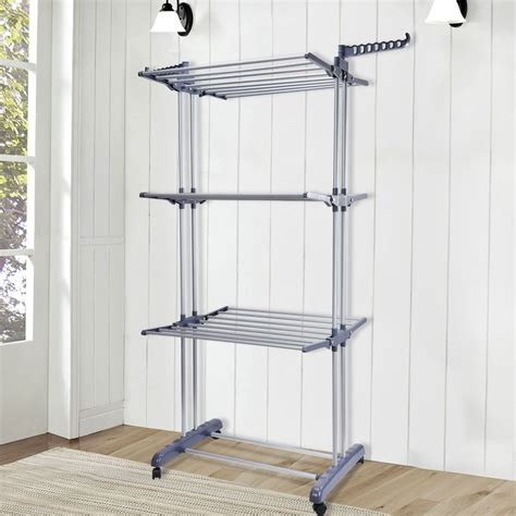 laundry drying rack foldable 6 tiers clothes airer indoor laundry drying rack
