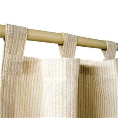 coolaroo pebble exterior tab top shear curtain