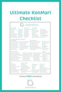 Ultimate Konmari Checklist From Juju Sprinkles Page 1 Www